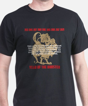 Chinese Zodiac Rooster Traits T-Shirt