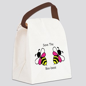 Breast Cancer Boo-Bees Canvas Lunch Bag