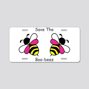 Breast Cancer Boo-Bees Aluminum License Plate