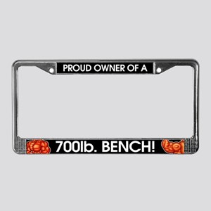 Proud Owner Of A 700lb Bench! License Plate Frame