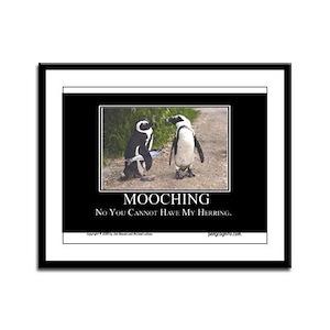 Mooching Framed Panel Print