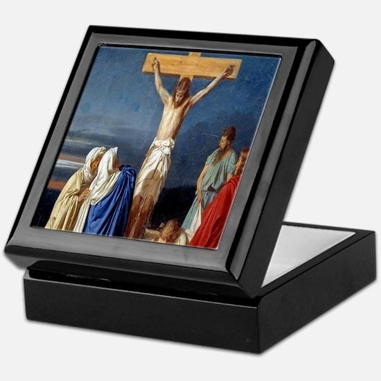 The Crucifixion of Jesus Keepsake Box
