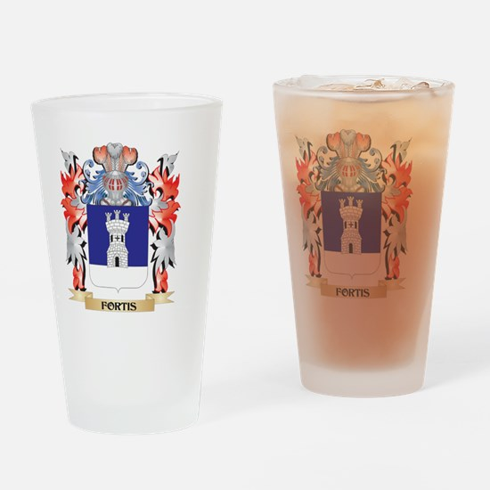 Fortis Coat of Arms - Family Crest Drinking Glass