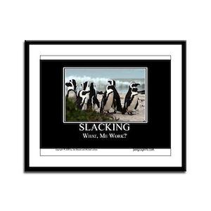 Slacking Framed Panel Print