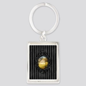 YOUR PHOTO Gothic Frame Spider Keychains