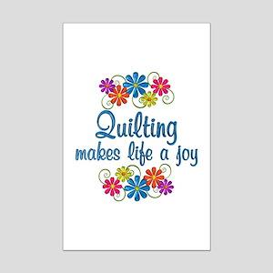 Quilting Joy Mini Poster Print