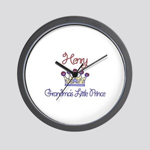 Henry - Grandma's Little Prin Wall Clock