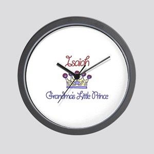 Isaiah - Grandma's Little Pri Wall Clock