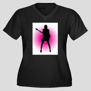 Girl Guitarist Plus Size T-Shirt