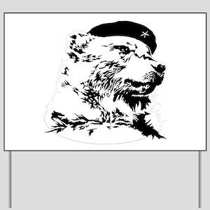 Pride Bear Che Gue-BEAR-a Yard Sign