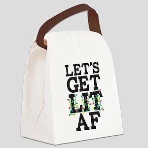 Lets Get Lit AF Canvas Lunch Bag