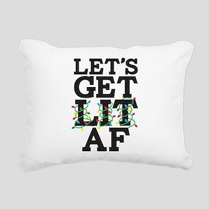 Lets Get Lit AF Rectangular Canvas Pillow
