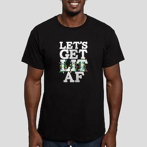 Lets Get Lit AF Men's Fitted T-Shirt (dark)