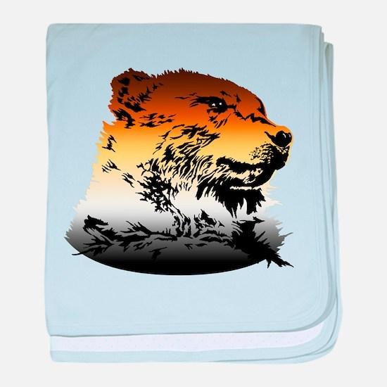 Pride Bear Colors baby blanket