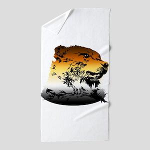 Pride Bear Colors Beach Towel