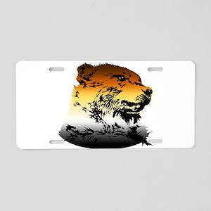 Pride Bear Colors Aluminum License Plate