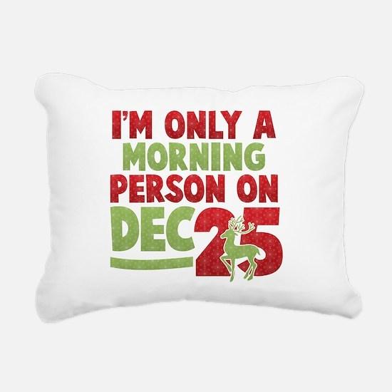 Morning Person Rectangular Canvas Pillow