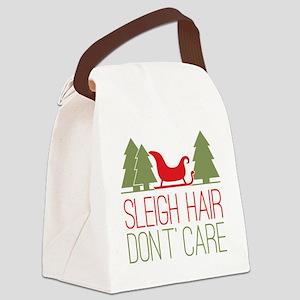 Sleigh Hair, Don't Care Canvas Lunch Bag