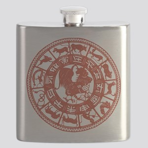 Chinese Zodiac Rooster Vintage Flask
