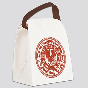 Chinese Zodiac Rooster Vintage Canvas Lunch Bag