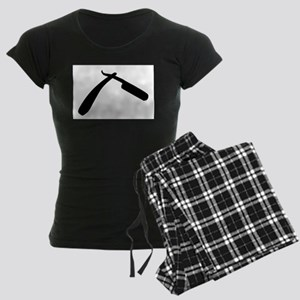 Cut Throat Razor Silhouette Women's Dark Pajamas