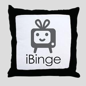 iBinge Throw Pillow