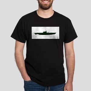 Submarine Silhouette On White T-Shirt