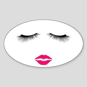 Lipstick and Eyelashes Sticker