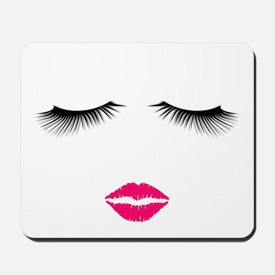 Lipstick and Eyelashes Mousepad