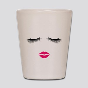 Lipstick and Eyelashes Shot Glass