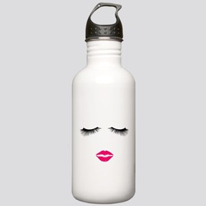 Lipstick and Eyelashes Water Bottle