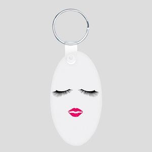 Lipstick and Eyelashes Keychains