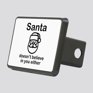 Santa Doesn't Believe Rectangular Hitch Cover