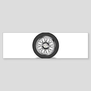 Knock On Wire Wheel Bumper Sticker