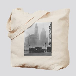 A Foggy Day in Chicago Tote Bag