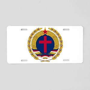 Emblem of Christian Sociali Aluminum License Plate