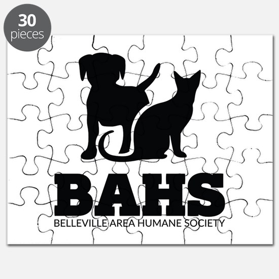 Belleville Area Humane Society Vertical Black Logo