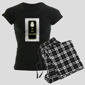 Door Knob Sign Women's Dark Pajamas