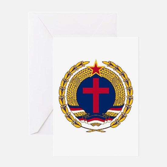 Emblem of Christian Socialism Greeting Cards