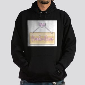 Powder Room Sign Hoodie (dark)