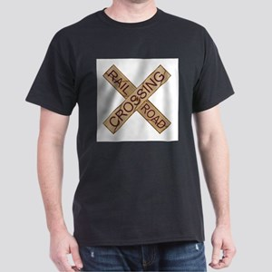 Rail Crossing Wooden Sign T-Shirt