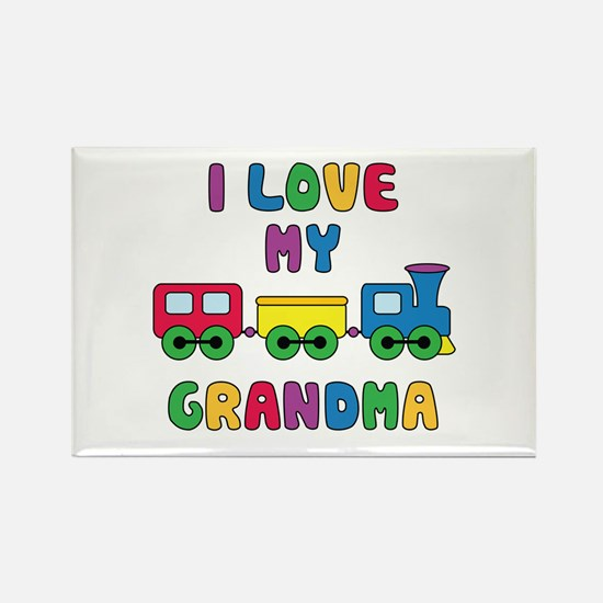Love Grandma Rectangle Magnet