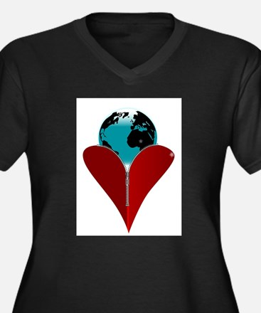 Love Earth Plus Size T-Shirt