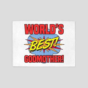 World's Best Godmother 5'x7'Area Rug
