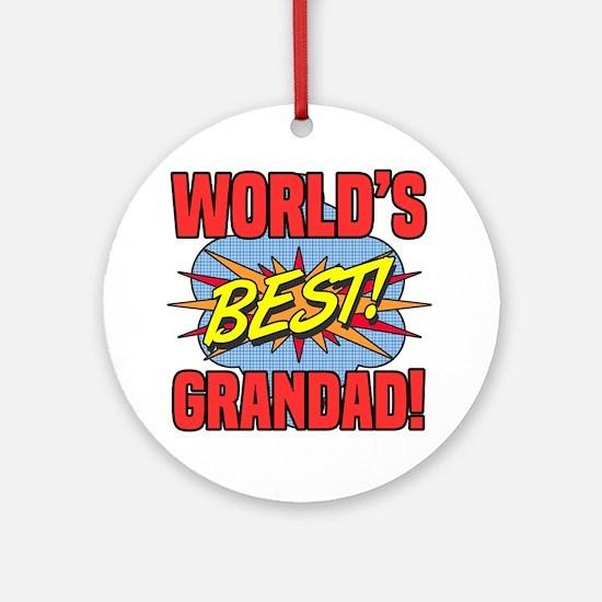 Cute Grandad Round Ornament