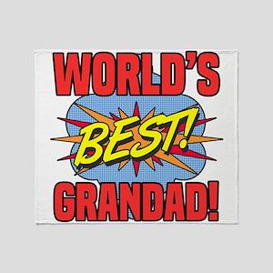 World's Best Grandad Throw Blanket