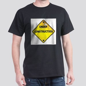 Yellow Under Construction Sign T-Shirt