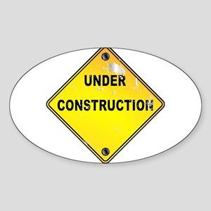 Yellow Under Construction Sign Sticker