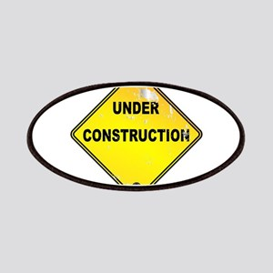 Yellow Under Construction Sign Patch