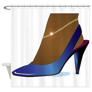 Blue Heeler Art Shower Curtains